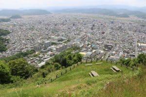 鳥取城からの展望