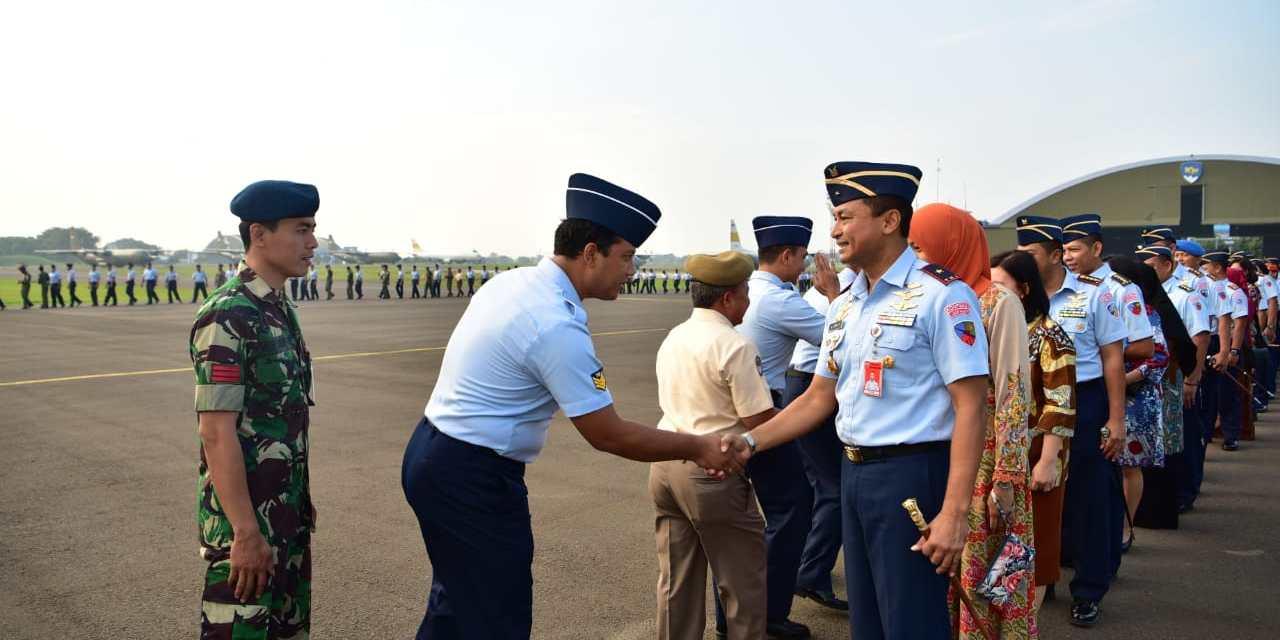 Keluarga Besar TNI AU Lanud Halim Perdanakusuma Gelar Halal Bihalal