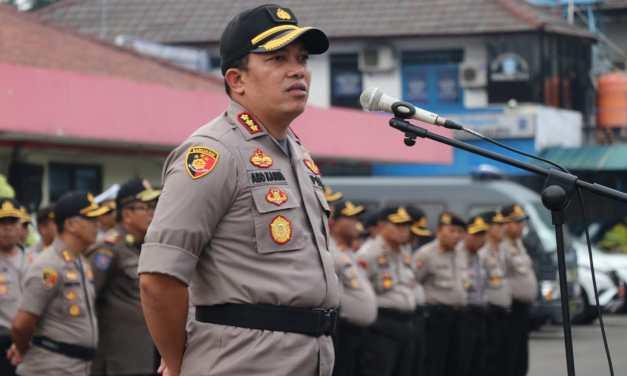 Jelang Sidang di MK, Polrestro Tangerang Kota Apel Gelar Pasukan