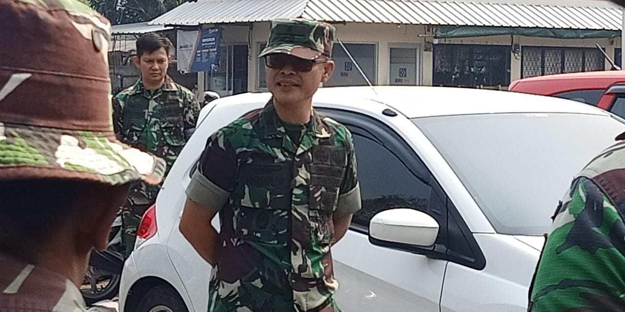 HUT TNI ke 74, Kodim 0506 Tangerang Bersih-bersih Pasar Babakan