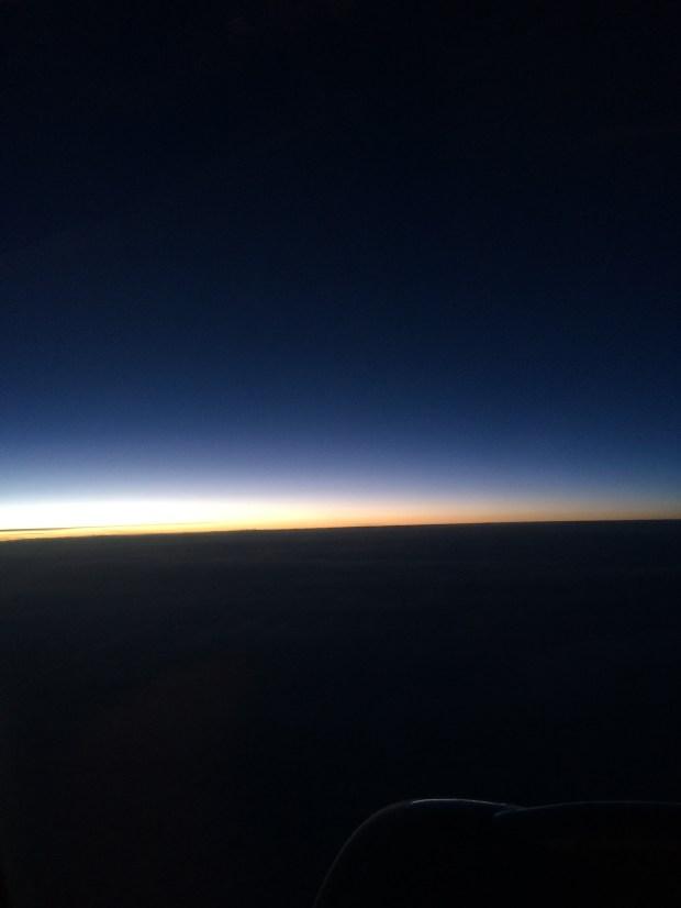 福岡行きのフライトで