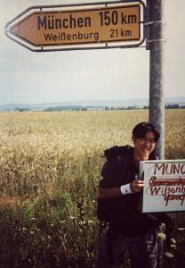 学生時代ヨーロッパを旅していた頃