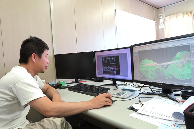 3Dデータは土木の道具。正治組 土木部部長 大矢洋平氏