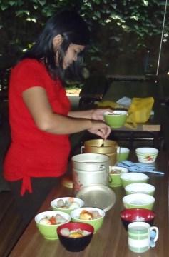 Ibu Sumarti prepares lunch each day at SB!