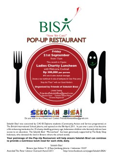 Our Last Event: Friday, 21st September 2012