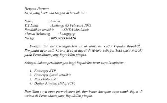 Contoh Surat Izin Yg Baik Dan Benar Surat Box Cute766