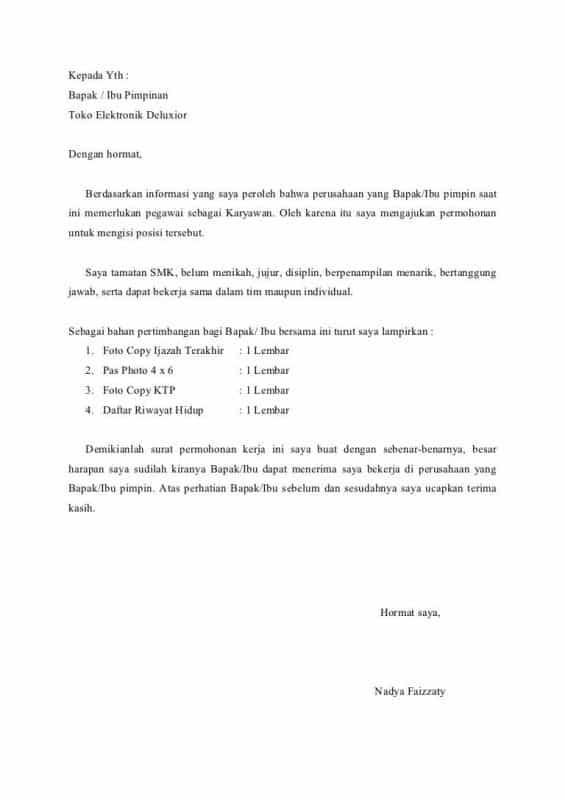 Contoh Surat Lamaran Kerja Jne Tulis Tangan Download Contoh Lengkap Gratis