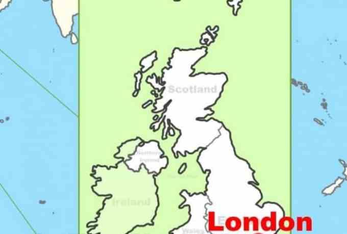 Peta Buta Inggris