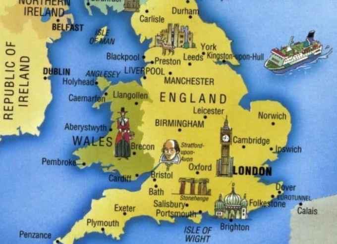 Peta Negara Inggris