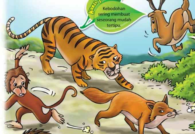 Contoh Teks Fabel Harimau Suka Menolong