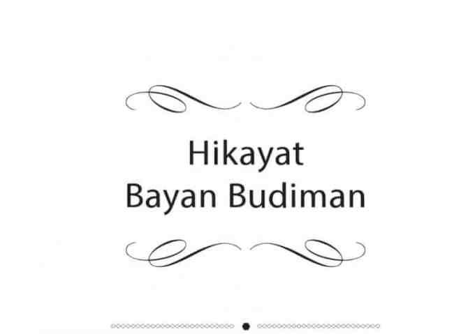 Contoh Teks Hikayat Bayan Budiman