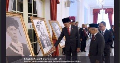 Presiden Jokowi Anugerahkan Gelar Pahlawan Nasional kepada 6 Tokoh (Setneg RI)