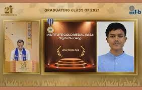 Umar Abdul Aziz dari Indonesia Wisudawan Terbaik di India