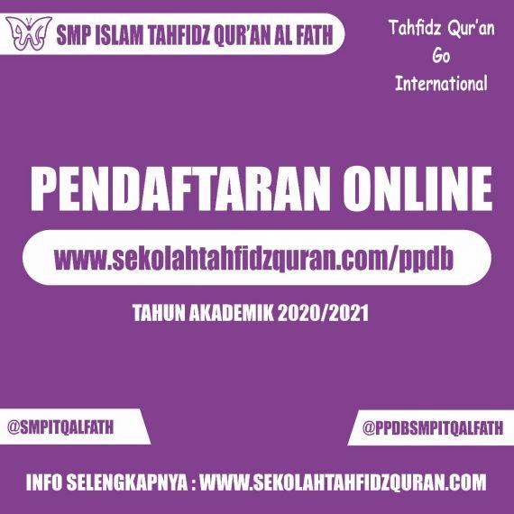 Tidak Perlu Keluar Rumah, Daftar Sekolah di SMP Islam Tahfidz Qur'an Al Fath Bisa Via Online