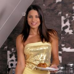 Een ontbijtje met de mooie naakte Zafira