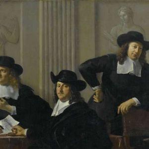 Schilderij van Karel Dujardin (1669) van de regenten van het Spinhuis