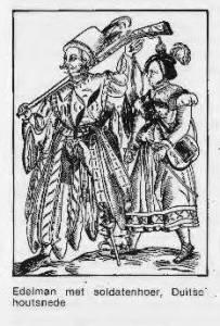 Legerprostituee, Duitse houtsnede