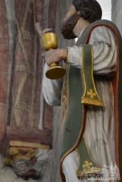 Posąg świętego Lubencjusza z kościoła w Dietkirchen, Niemcy.