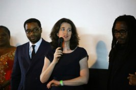 Chiwetel, Andrea Calderwood (producer) and Biyi Bandele (director)