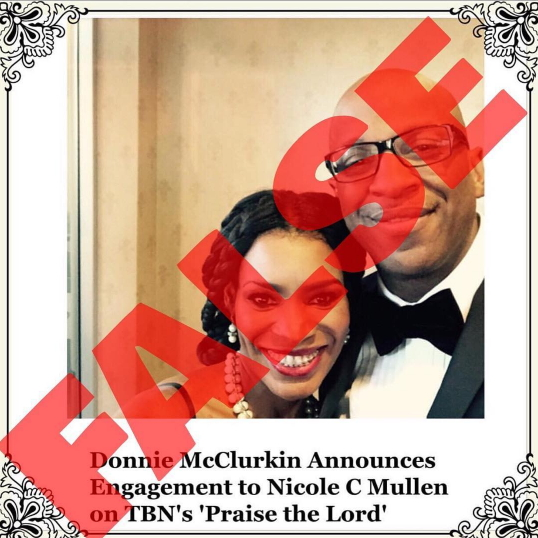Donnie McClurkin engagement