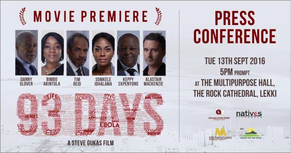 93 DAYS Movie Premieres At HOTR Lagos | Sept.10th