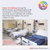 Covid-19: Pastor Adeboye Donates 11 ICU Beds With Ventilators Across The Country