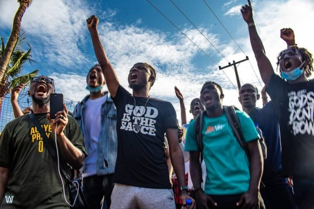 Limoblaze Leads Christian Youths In Prayer Walk Amidst Protest