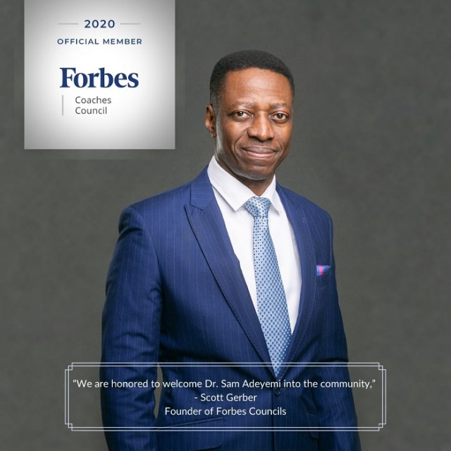 Pastor Sam Adeyemi Becomes Member Of Forbes Coaching Council