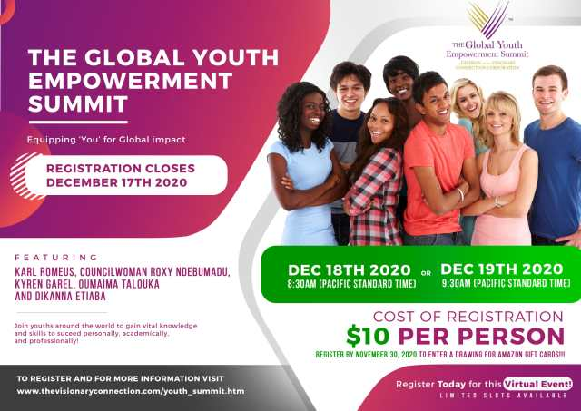 Register For The Global Youth Empowerment Virtual Summit (Virtual)
