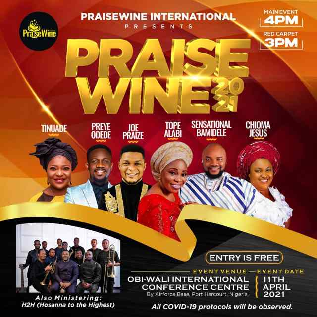 Chioma Jesus, Tope Alabi & More To Minister At PraiseWine 2021