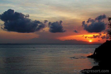 Mt.Rinjani při pohledu od Selang resort na Bali