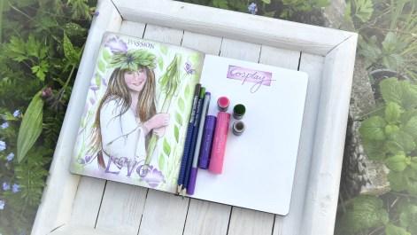 Malen in ein Bullet Journal