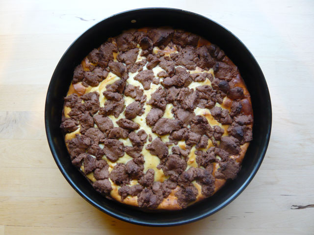 Brauner Topfenkuchen