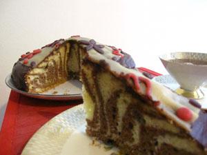 Zebra-Kuchen