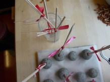 Kuchen-Lolly, Buttercreme-Schlecker, Cake Pop, Cake Balls, Cakepop, Kuchen-Schlecker, Kuchenteig-Lolly, American Frosting, Rentier