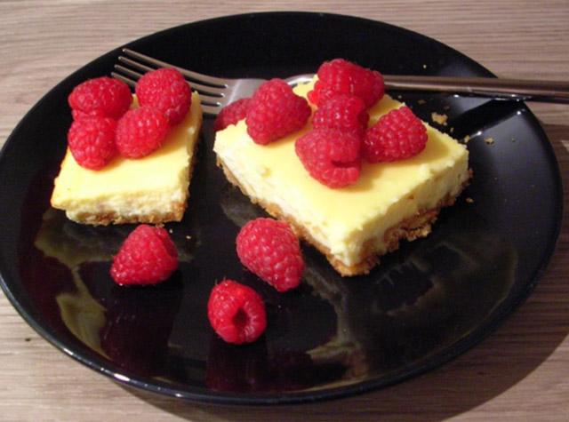 Cheesecake mit weißer Schokolade