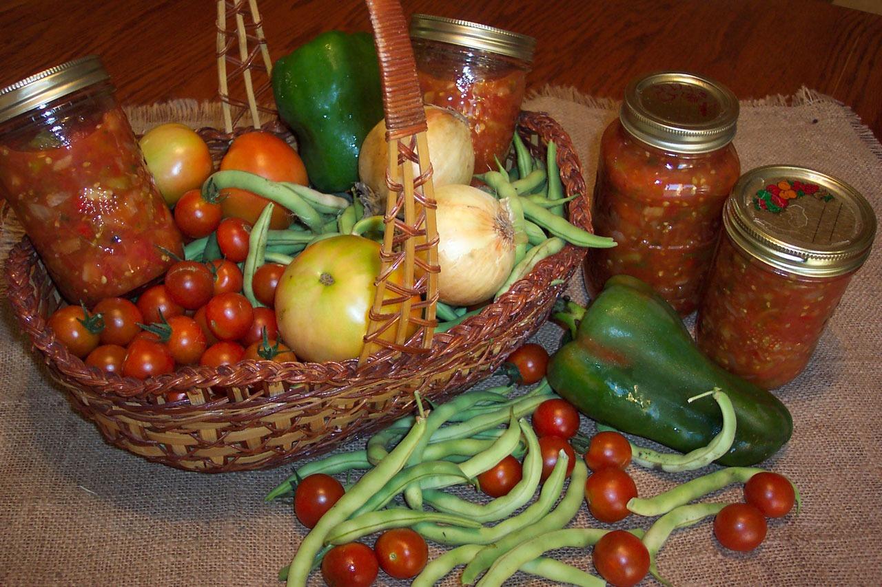 Obst und Gemüse verarbeiten