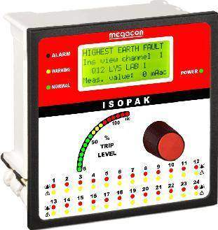 ISOPAK216W DC Ground Fault Monitor, Output Relay, Analog Output (16 Channels)
