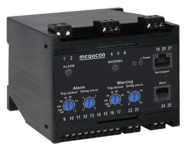 KCM163 Insulation Monitor, System Voltage up to 6.6kVAC, Output Relays, Optional Analog Output
