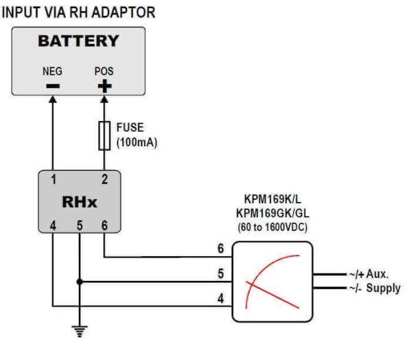 RH16 - Voltage Adapter 1200VDC to 1600VDC