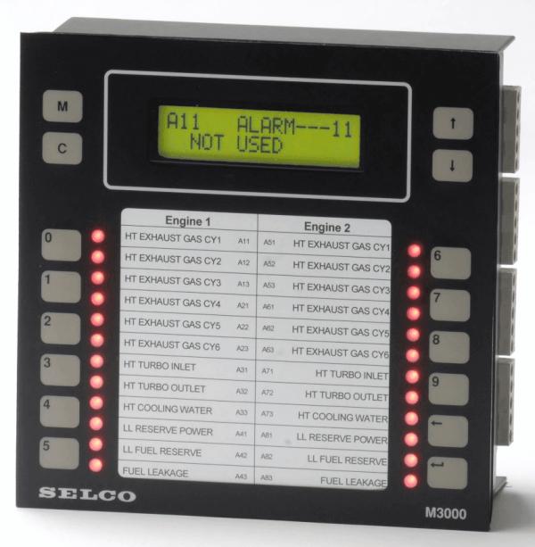 M3000 Analog Alarm Monitor, 24VDC, 24 Channel, RS485-Modbus
