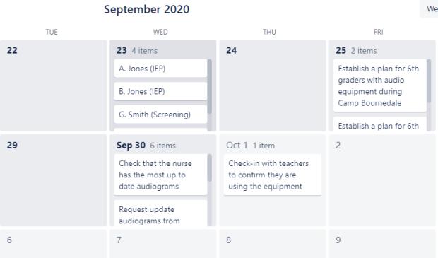 Image of Calendar Power-up on Trello