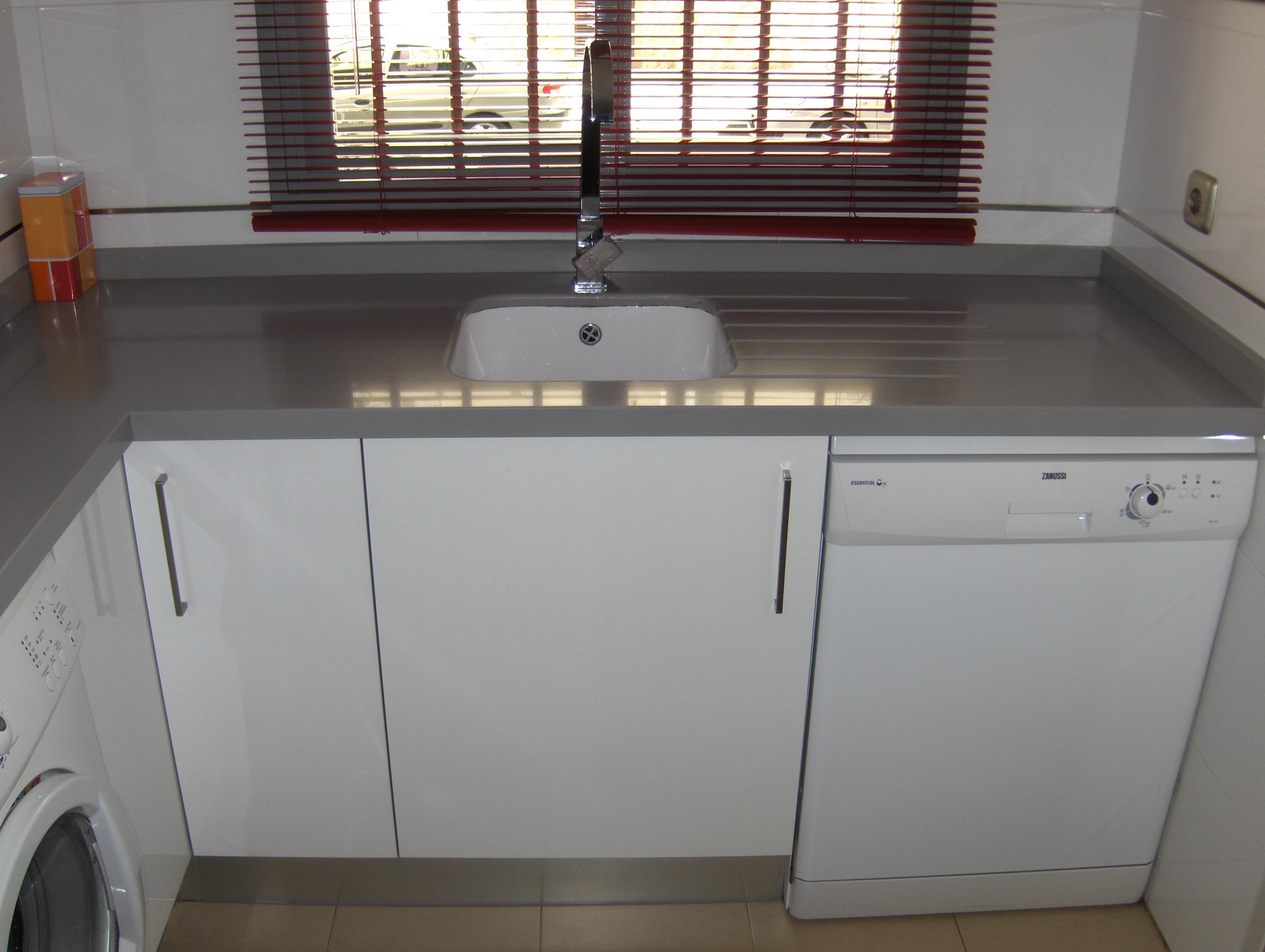 Cocinas seleccion sevilla blanca con encimera gris 8
