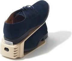 ライクイット (like-it) 靴 収納 靴ホルダー ワイド 6個入 ベージュ 幅10x奥26x高13.5cm 197432