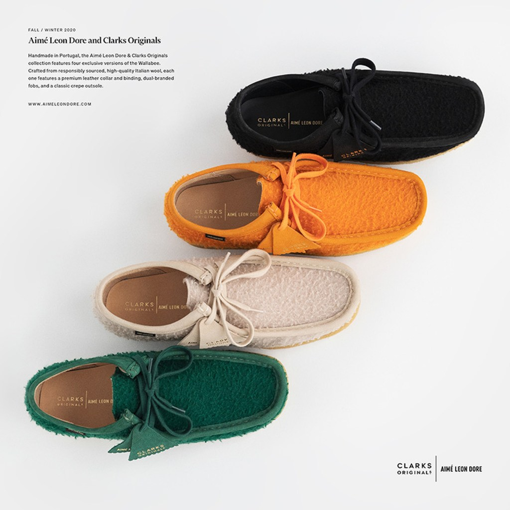Collection Aimé Leon Dore x Clarks Originals Wallabee