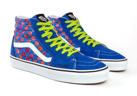 awake-ny-vans-sk8-hi-checkerboard-blue-red-2