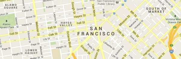 San Francisco California Map of Answering Service Coverage Area