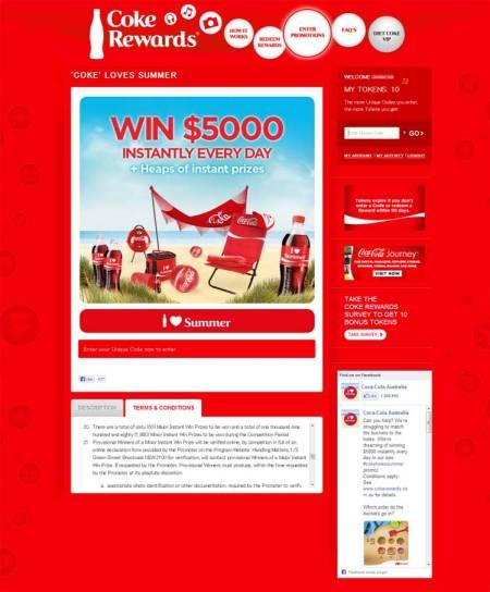コカコーラオーストラリア夏キャンペーン