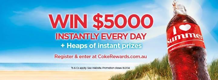 毎日5000豪ドルが当たる!コカコーラ オーストラリアの夏キャンペーン