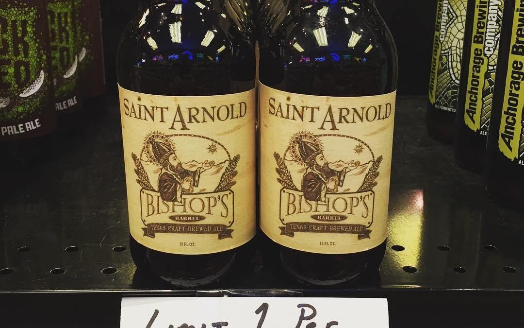 Yes, that is @saintarnoldbrewing Bishop's Barrel available for sale at retail! Come get it while…